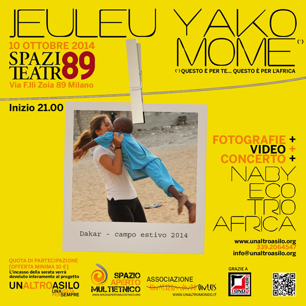 10 ottobre: JEULEU YAKO MOME allo Spazio Teatro 89